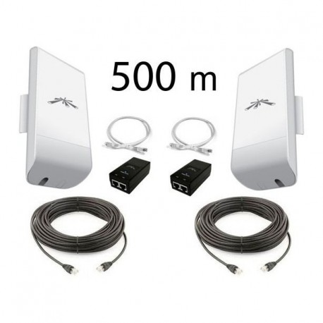kit pont r seau wifi longue port e 500m 2 4 ghz. Black Bedroom Furniture Sets. Home Design Ideas